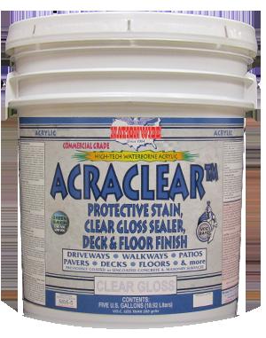 Acraclear Best Concrete Sealer Bucket Image