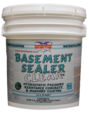 Basement Floor Paint | Basement Sealer Clear™ Bucket Image