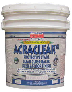 Acraclear the Best Concrete Sealer, Bucket - Nationwide Coatings