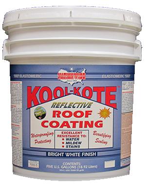 Kool Kote Bucket - White Roof Coating - Nationwide Protective Coatings